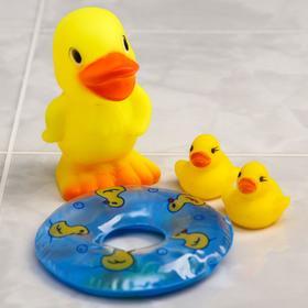 Набор игрушек для ванны «Утята с кругом», 3 шт., цвета МИКС