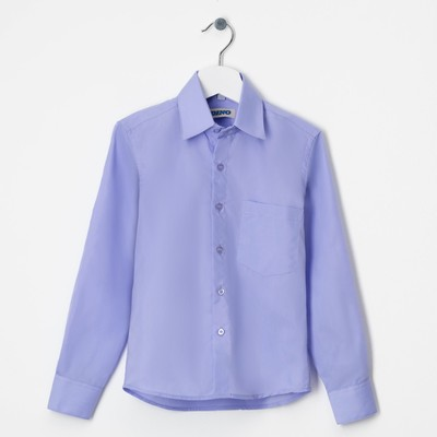 Сорочка для мальчика, размер 35 , рост152-158 см, цвет сирень CVC8