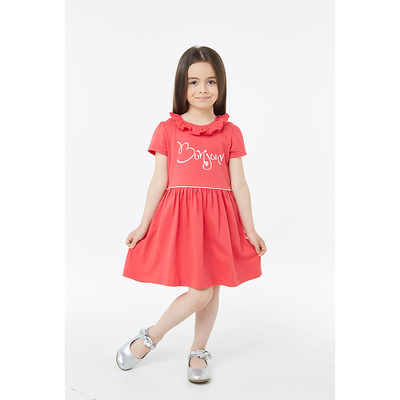 Платье детское, рост 98 см, цвет малиновый