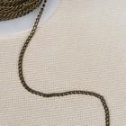 Декоративная цепочка, 2,8*1,8мм, 25±0,5м, цвет бронзовый