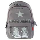 Рюкзак молодежный Bruno Visconti 40*30*17 см «Addicted», серый