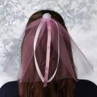 """Фата на девичник """"Цветок"""", розовая"""
