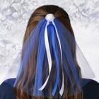 """Фата на девичник """"Цветок"""", синяя"""