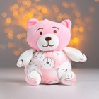 "Soft toy-suction Cup ""Bear"" pink"