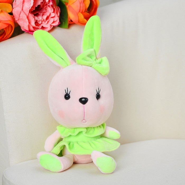 Мягкая игрушка-присоска «Зайка», в платье, цвета МИКС