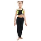 Топ гимнастический «Вега», цвет чёрный-лимон, размер 28