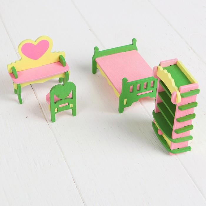 Мебель для кукол «Спальня с туалетным столиком»