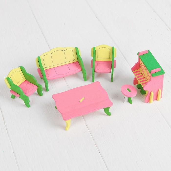 """Мебель для кукол """"Гостиная с большим столом"""""""