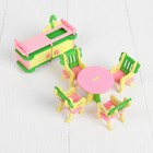 "Furniture for dolls ""Dining room"", pink"