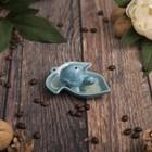 """Подставка под благовония """"Голубая черепашка"""" 8,5х7,5х3 см"""