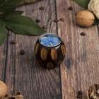 """Подсвечник из мангового дерева """"Мираж"""" 6х6х5 см"""