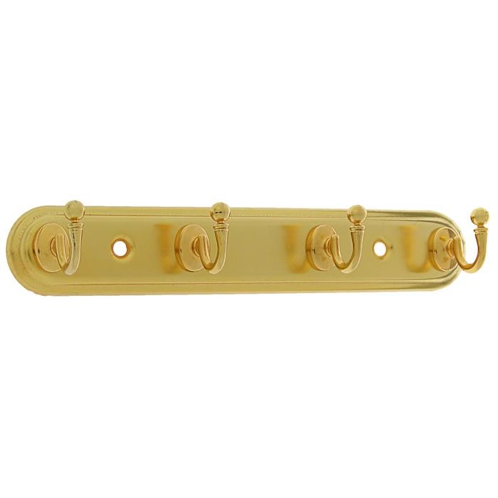 Вешалка 4-х местная, KV104GP, цвет золото