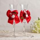 """Набор свадебных хрустальных бокалов """"Вдохновение"""", красный"""