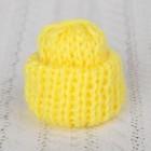 Шапка для игрушек вязаная, цвет светло - жёлтый
