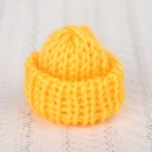 Шапка для игрушек вязаная, цвет жёлтый