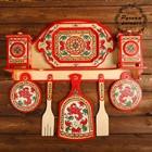 Набор кухонный, 9 предметов, борецкая роспись