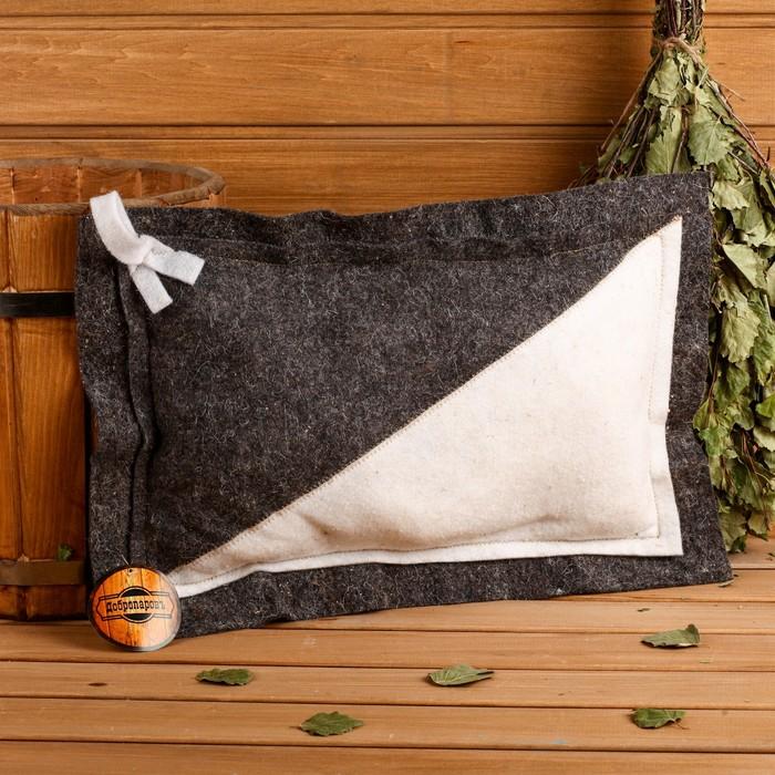 Подушка комбинированная, войлок, 50×33см