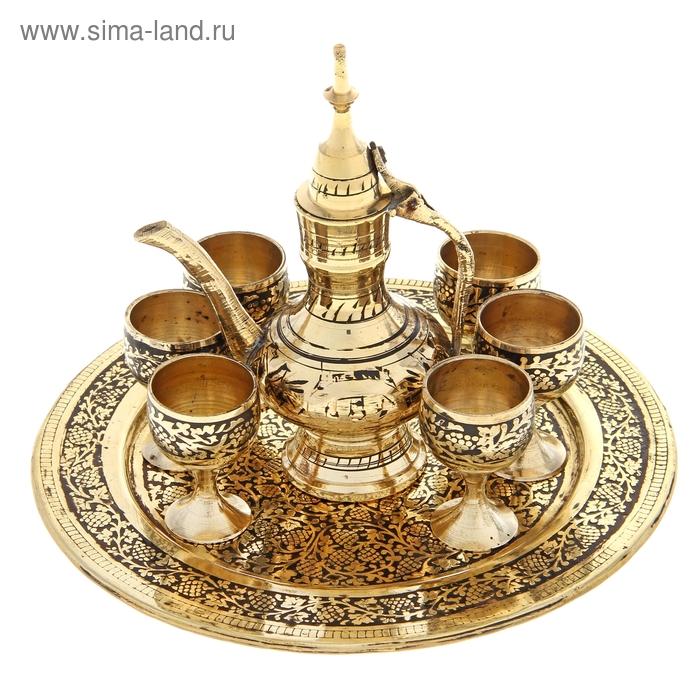 "Набор посуды ""Шахерезада"": 6 чашек, чайничек, поднос"