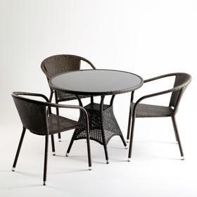 Комплект мебели из иск. ротанга T197ANS-W53/Y137C-W53 Brown (3+1) Ош