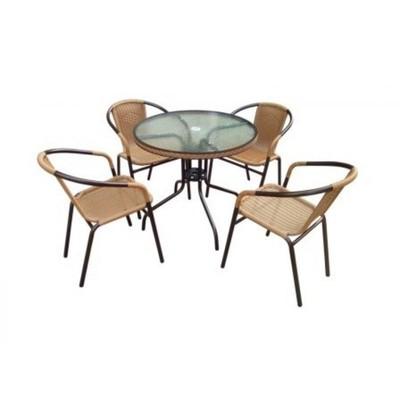 Комплект мебели Николь-1A TLH-037AR2/080RR-D80 Cappuccino (4+1)