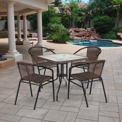 Комплект мебели Асоль-3 TLH-037BR3/070SR-70х70 R-05 Brown (4+1