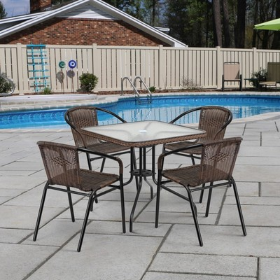 Комплект мебели Асоль-3 TLH-037AR2/070SR-70х70 R-05 Cappuccino (4+1)
