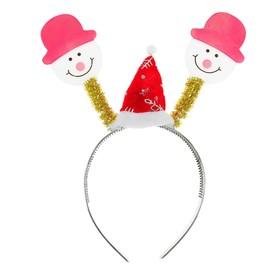 Карнавальный ободок «Снеговик», световой