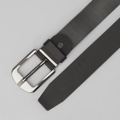 Ремень мужской, винт, пряжка под тёмный металл, ширина - 3 см, цвет чёрный