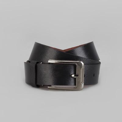 Ремень мужской, винт, пряжка металл, ширина - 3,5 см, цвет чёрный