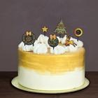 """Украшения для торта """"С Новым годом"""", олень, набор: 6 топперов + декор"""