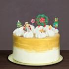 """Набор для украшения торта """"С Новым Годом""""дед мороз"""