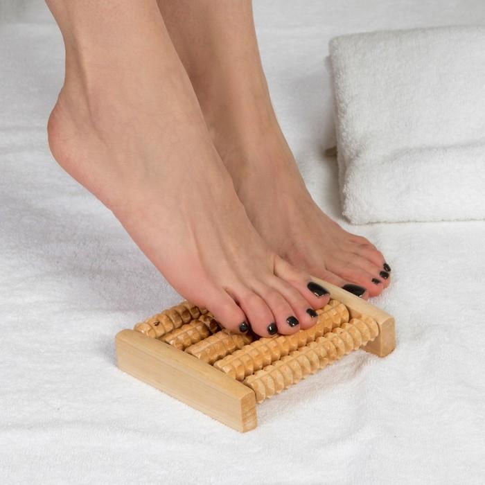 Массажёр для ног «Ножное счастье», 5 рядов, деревянный
