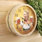 """Часы банные бочонок """"Добропаровъ. Время отдохнуть"""""""