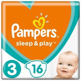 Подгузники Pampers Sleep&Play (6-10 кг), 16 шт