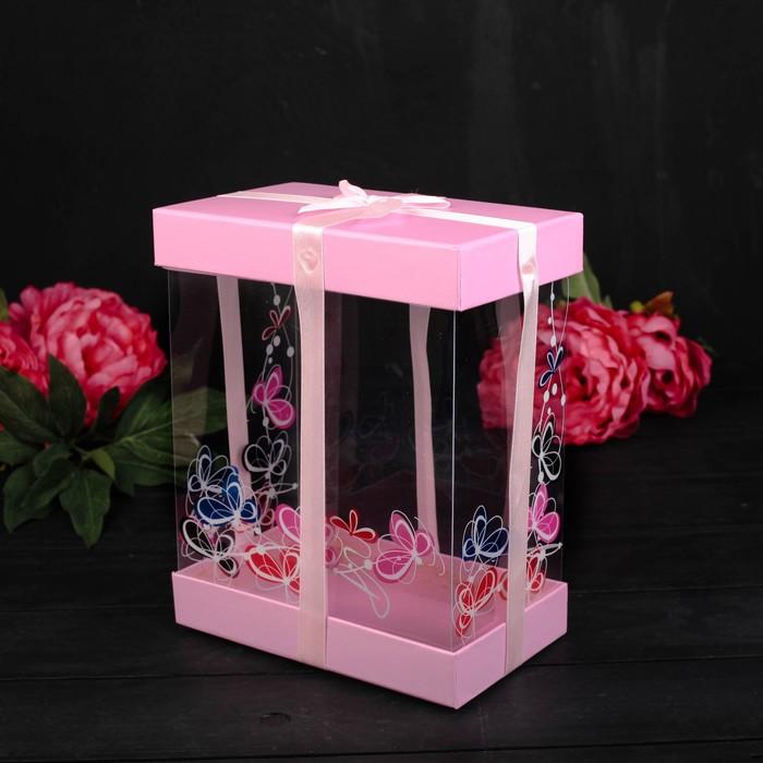 Коробка подарочная 20 х 12 х 25 см - фото 8877749