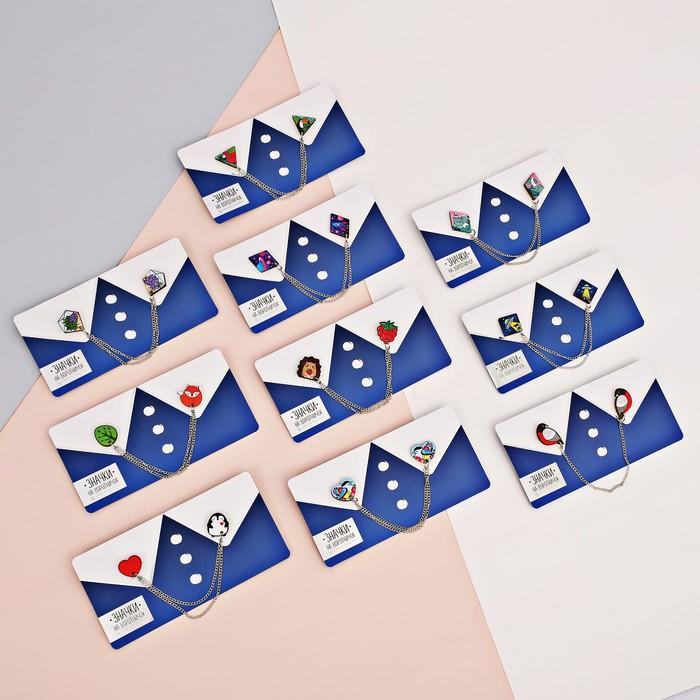 """Значки на воротничок с цепочкой """"Пингвин"""" - фото 240533043"""