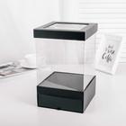 Коробка подарочная, чёрный, 18 х 18 х 8 см