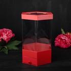 Коробка подарочная, красный, 17 х 17 х 32,5 см