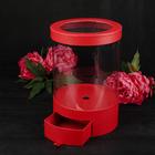 Коробка подарочная, красный, 20 х 20 х 32,5 см