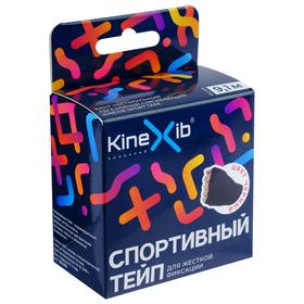 Спортивный тейп Kinexib, 3,8 см х 9,1 м, чёрный
