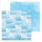 Бумага для скрапбукинга «Морозный день», 20 × 21,5 см, 180 г/м