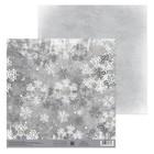Бумага для скрапбукинга «Снежинки», 20 × 21,5 см, 180 г/м