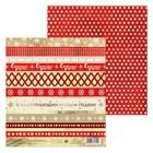 Бумага для скрапбукинга «Снежинки радости», 15,5 × 17 см, 180 г/м