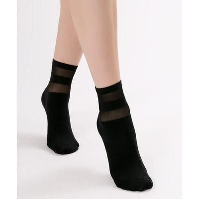 Носки женские, цвет чёрный, размер 23