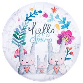 """Ковер детский """"Hello Spring"""" d = 90 см, велюр,поролон 400г/м2"""