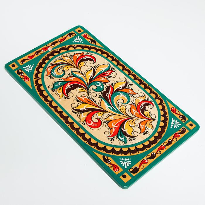 Доска разделочная «Прямоугольная», 18×0,8×31 см, ракульская роспись