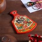 Досочка разделочная «Фигурная», 12×0,8×17 см, красная, ракульская роспись