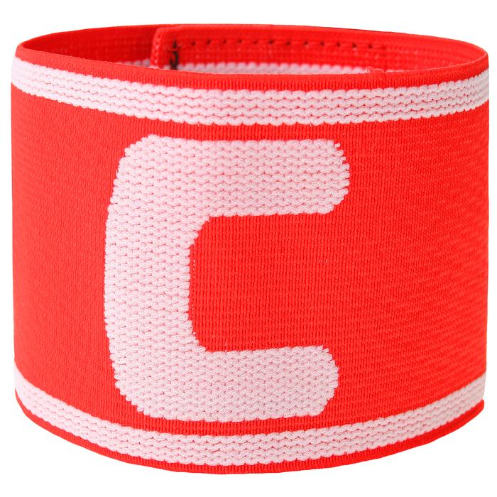Капитанская повязка TORRES безразмерная, цвет красно-белый