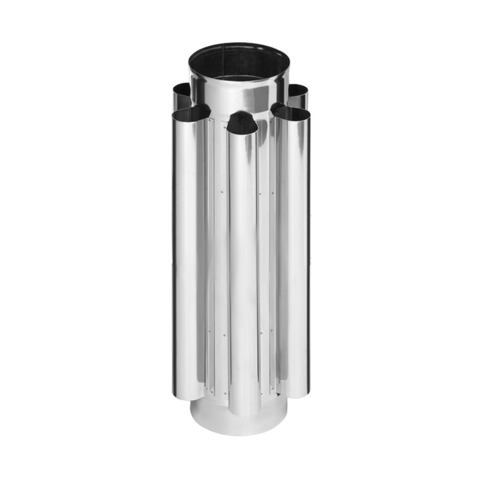 Дымоход-конвектор Феррум, нержавеющий 430/0,8 мм, d 120 мм, L=0,5 м