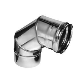Колено Феррум угол 90°, нержавеющее 430/0,8 мм, d 200 мм